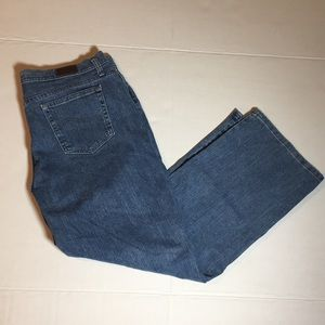 """Lee """"At the Waist"""" Jeans Relaxed Straight Leg Fit"""